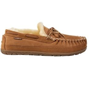 NEW Ll Bean Wicked Good Brown Moccasins